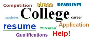 college application word bubble