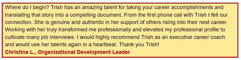 highly recommended - client testimonials